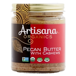 Pecan Butter (Raw, Certified Organic) 8 oz