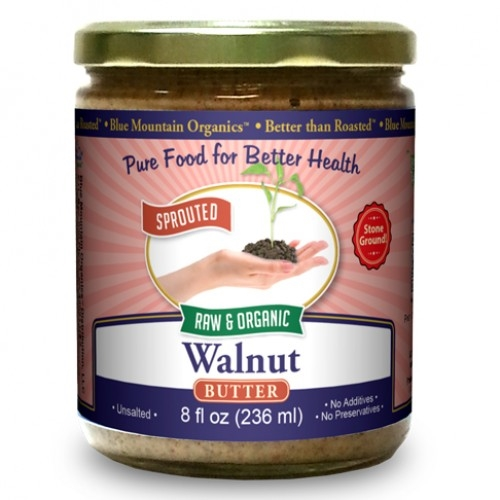 BTR™ Walnut Butter - SPROUTED, Certified Organic, Raw - 16 oz