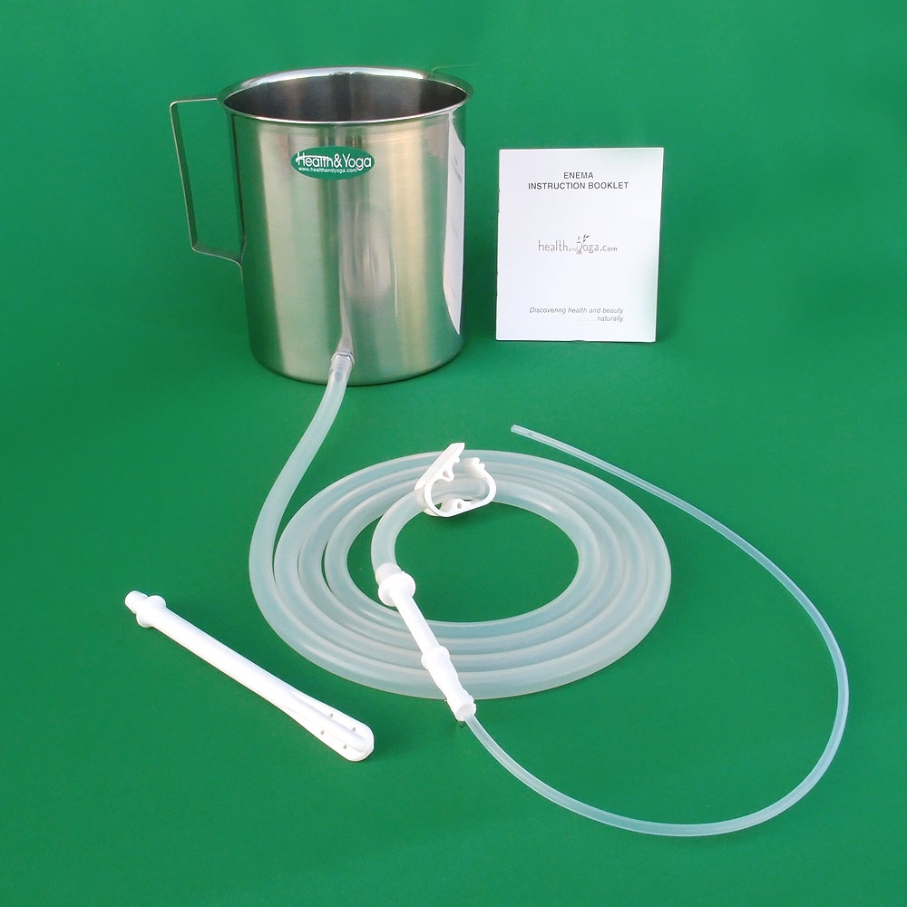 Enema Kit With Stainless Steel Can Two Quart 1 9