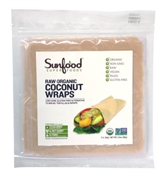 Coconut Wraps - Original - Organic, Raw, Vegan, Paleo, 7ct. - Sunfood