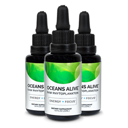 Oceans Alive Marine Phytoplankton 3 PACK (3 x 30 ml Bottles) - Activation