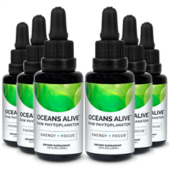 Oceans Alive Marine Phytoplankton 6 PACK (6 x 30 ml Bottles) - Activation