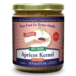 BTR™ Apricot Kernel Butter  - SPROUTED, Certified Organic, Raw - 8 oz