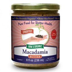BTR™ Macadamia Nut Butter - SPROUTED, Certified Organic, Raw - 16oz.