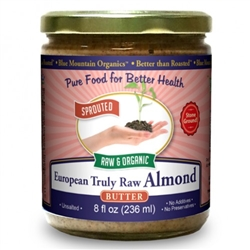 BTR™ Almond Butter, European - SPROUTED, UNPASTEURIZED, Certified Organic, Raw - 16 oz