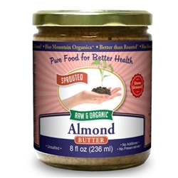 BTR™ Almond Butter, European - SPROUTED, UNPASTEURIZED, Certified Organic, Raw - 8 oz