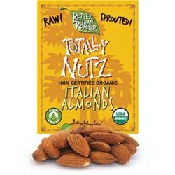 "BTR™  Almonds, ""European Truly Raw Almonds"" (10 oz) - SPROUTED, Certified Organic, Raw"