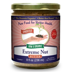 Extreme Nut Butter 8 oz. - SPROUTED, Certified Organic, Raw