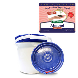 BTR™ Almond Butter, European - SPROUTED, Certified Organic, Raw - 10 lbs ***SPECIAL ORDER ONLY, CALL OR EMAIL****