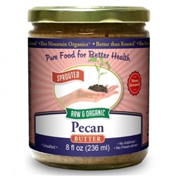 BTR™ Pecan Butter - SPROUTED, Certified Organic, Raw - 8 oz