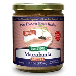 BTR™ Macadamia Nut Butter - SPROUTED, Certified Organic, Raw - 8 oz.