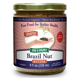BTR™ Brazil Nut Butter - SPROUTED, Certified Organic, Raw - 8 oz.