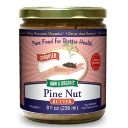 BTR™ Pine Nut Butter - SPROUTED, Certified Organic, Raw - 8 oz.