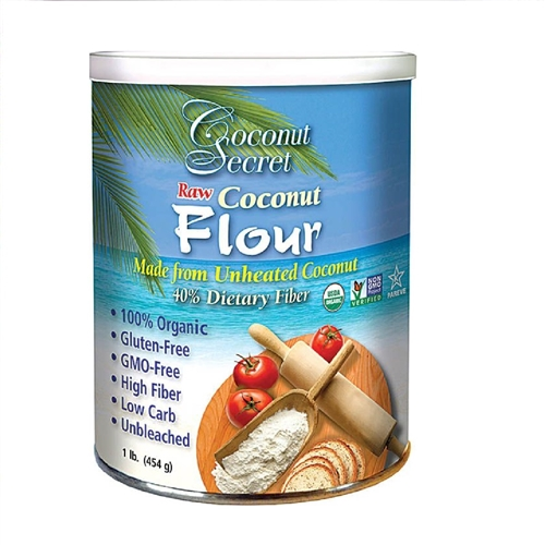 Coconut Flour - 16oz. tin (Raw, Certified Organic)