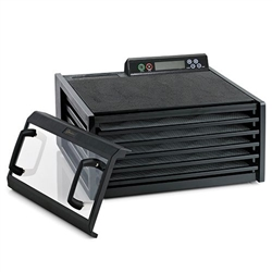 #3548CDB Excalibur Dehydrator 5-tray, Digital 48hr Timer, Black with Clear Door - FREE Dehydration Guide + 10 Year Warranty.