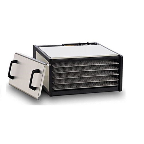 #D500SHD Excalibur Dehydrator - 5 Tray Stainless Steel w/Stainless Steel Trays.  Free Preserve It Naturally Guide + 10 Year Warranty