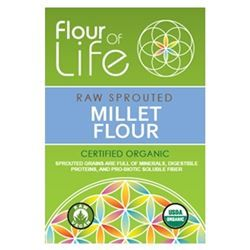 Millet Flour - 20 oz (Raw, Sprouted, Certified Organic) *** CLEARANCE BEST BEFORE DECEMBER 2019 ***