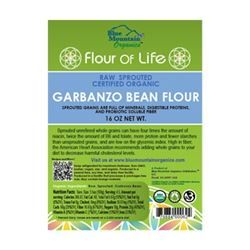 Garbanzo Bean Flour, sprouted - 20 oz (Naturally Gluten Free!, Raw, Sprouted, Certified Organic)