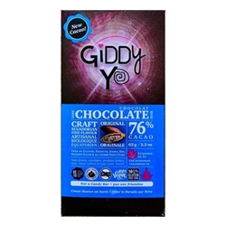 Original Dark Chocolate Bar, 76% (Organic, Raw) (62 g) - Giddy Yoyo