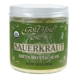 Sauerkraut - 16 oz. Jar (Raw, Unpasteurized,Certified Organic) *** CLEARANCE BEST BEFORE APRIL 2020 ***