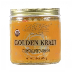 Golden Kraut Sauerkraut- 16 oz. Jar (Raw, Unpasteurized,Certified Organic) *** CLEARANCE BEST BEFORE APRIL 2020 ***