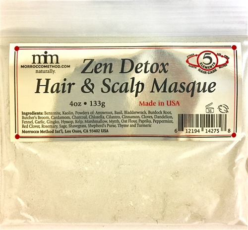 Zen Detox Hair & Scalp Therapy - 1 oz Smaller Packet (Raw, Vegan, Organic) - Morrocco Method