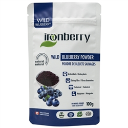 Blueberry Powder, 100g. (Non-GMO, gluten-free, Kosher, and Vegan) - IronBerry