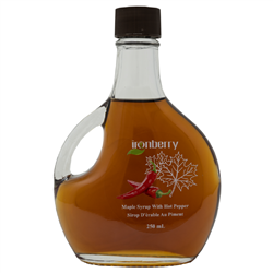 Maple Syrup with Hot Peppers. 250ml (Non-GMO, gluten-free, Kosher, and Vegan) - IronBerry