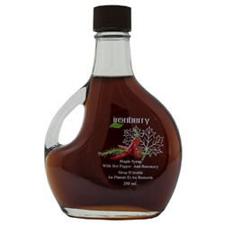 Maple Syrup with Hot Peppers and Rosemary. 250ml (Non-GMO, gluten-free, Kosher, and Vegan) - IronBerry