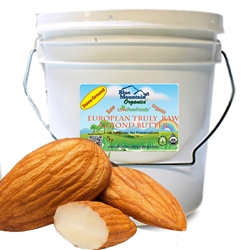 Almond Butter (Truly Raw, Certified Organic) 8lb Pail BULK (from European Amonds) - Love Raw Foods