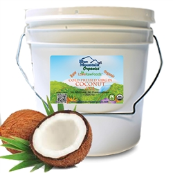 Coconut Oil, Cold Pressed (Truly Raw, Certified Organic) 1 gal. / 8lb Pail BULK - Love Raw Foods