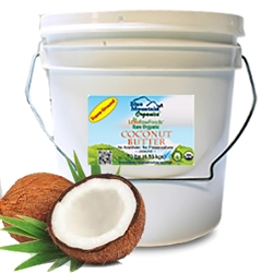 Coconut Butter (Truly Raw, Certified Organic) 1 gal. / 8lb Pail BULK - Love Raw Foods