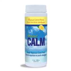 Natural Calm Magnesium Citrate Powder - SWEET LEMON - 8oz Container *** CLEARANCE BEST BEFORE SEPTEMBER 2018 ***