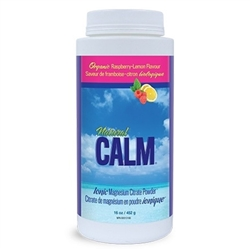 Natural Calm Magnesium Citrate Powder - RASPBERRY LEMON - 16oz Larger Container ***CLEARANCE BEST BEFORE OCTOBER 2020***