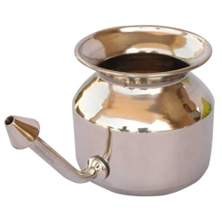 Stainless Steel Neti Pot for Nasal Congestion. Gently Clean Nasal Passages (Stainless Steel)