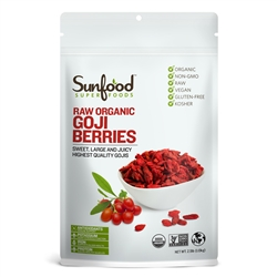 Goji Berries - Bulk 2.5-lb. (1.13kg) bag (raw, organic) - Sunfood *** CLEARANCE BEST BEFORE APRIL 2019 ***