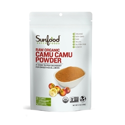 Camu Camu Powder, 100g/3.5oz, (Organic, Raw Pure Vitamin C) - Sunfood ***CLEARANCE BEST BEFORE OCTOBER 2020***
