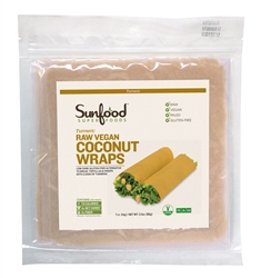 Coconut Wraps - Tumeric - Raw, Vegan, Paleo, 7ct.