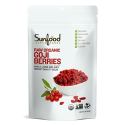 Goji Berries 16-oz. (454g) bag (raw, organic) - Sunfood