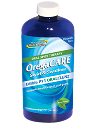 OregaCARE Cranberry-Mint Swirl & Swallow Mouthwash - 8 fl oz