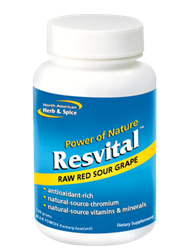 Resvital - 90 capsules (Whole Food Resveratrol from European Sour Grape) ***CLEARANCE BEST BEFORE JUNE 2020***