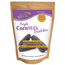 Purple CornMilk Drink Mix, 3.8 ox. (110 g.) - North American Herb & Spice ***CLEARANCE BEST BEFORE AUGUST 2020***