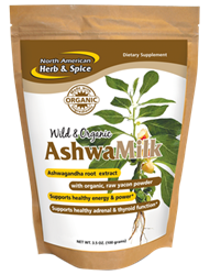 Wild & Organic AshwaMilk Drink Mix, (100 g.) - North American Herb & Spice ***CLEARANCE BEST BEFORE AUGUST 2020***