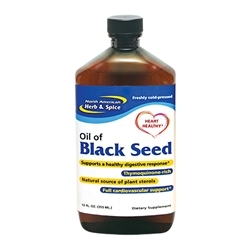 Oil of Black Seed, 12 fl. oz. (355 ml) - North American Herb & Spice