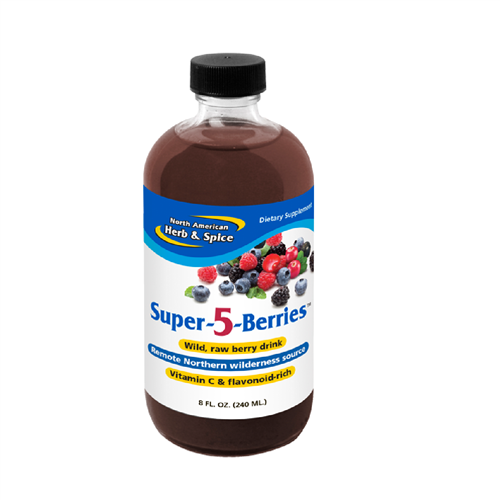 Super-5-Berries, 8 oz. (Raw & Wild) - North American Herb & Spice