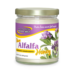 Alfalfa Honey, 10 oz. (Raw & Wild) - North American Herb & Spice ***CLEARANCE BEST BEFORE FEBRUARY 2021***