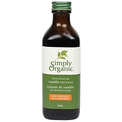 Madagascar Vanilla Extract (Non-Alcoholic), 118 ml. (Certified Organic) - Simply Organic