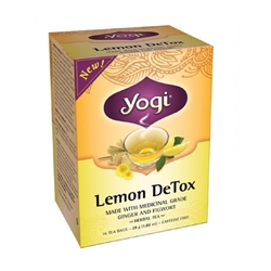 Lemon Detox - (16 tea bags, 32 g) - Caffeine Free, Herbal Tea - Yogi ***CLEARANCE BEST BEFORE JUNE 2020***