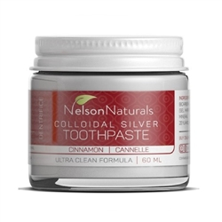 Colloidal Silver Remineralizing Toothpaste, Cinnamon. 60 ml. - Nelson Naturals *** CLEARANCE BEST BEFORE DECEMBER 2019 ***