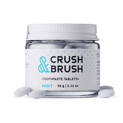 Crush & Brush Toothpaste Tablets Mint 80 Tabs - Nelson Naturals